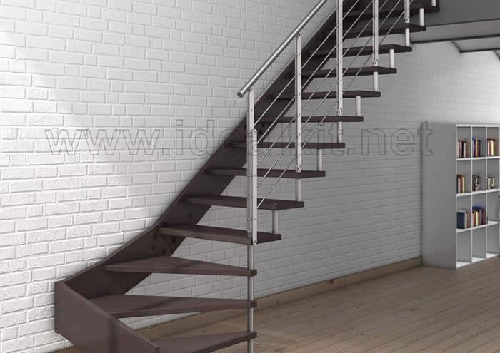Escaleras de interior instalaci n de escaleras enesca sa for Materiales para escaleras de interior