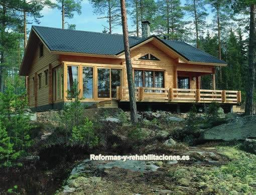 Casas de madera construcci n casas madera maderhouse sl for Casas de madera canadienses