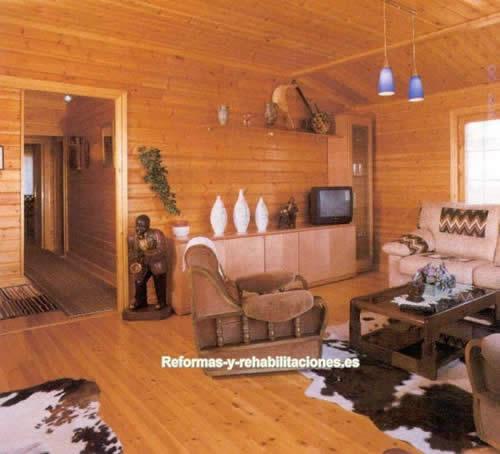 Interiores casas madera construcci n casas madera for Interiores de casas prefabricadas