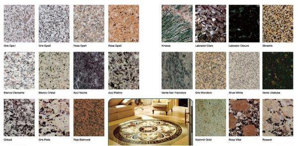 Variedad de granitos m rmoles mart n s nchez sl for Clases de marmoles y granitos