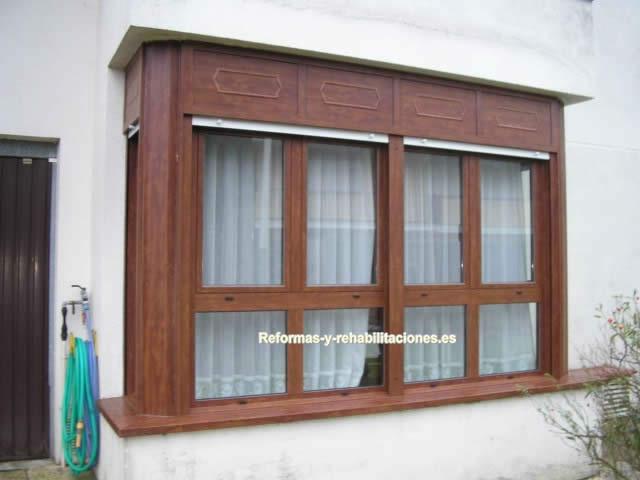 Ventanas aluminio madera ventanas aluminio y pvc alucant for Ventanas pvc madera