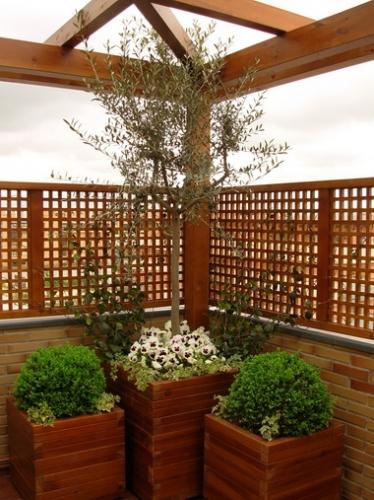 Jardineras exteriores de madera abaco for Jardineras de madera para exterior