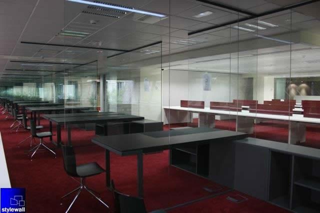 montaje de oficinas stylewall mamparas divisorias