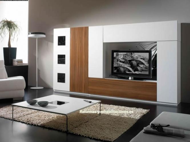 Muebles sal n de madera grupo madrid mobiliario para el - Mobiliario para el hogar ...