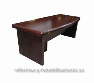 Mesa de director mobiliario oficina de segunda mano rochel for Compra mobiliario oficina segunda mano