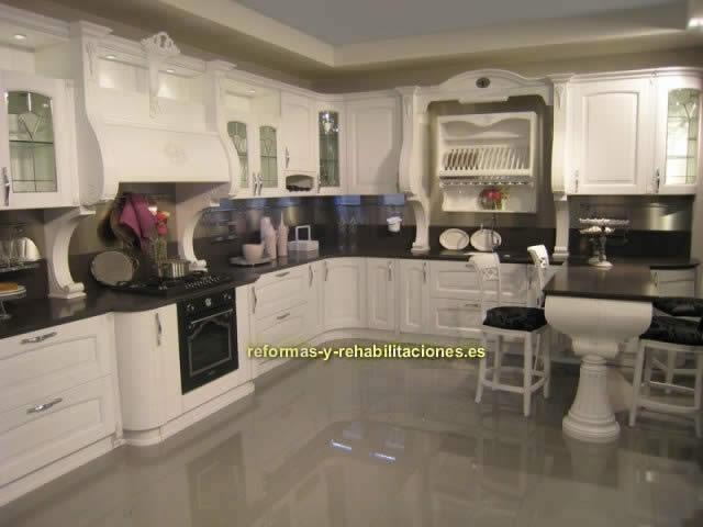 Colocaci n encimera en cocinas industria malague a de for Granitos y marmoles cocinas