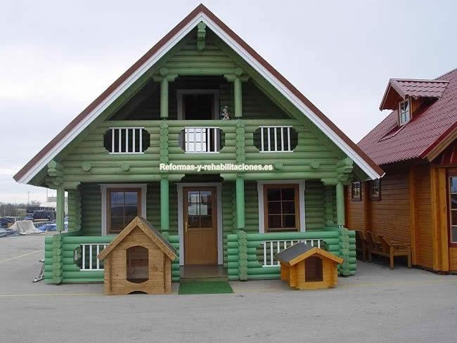 Casas de madera de 2 pisos casas de madera casamad for Empresas constructoras de casas