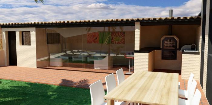 Jardines exteriores decoraci n de exteriores airealia - Decoracion piscinas exteriores ...