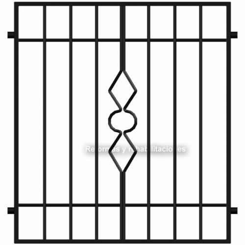 Rejas de hierro para ventanas rejas met licas l pez sl for Rejas de hierro precios