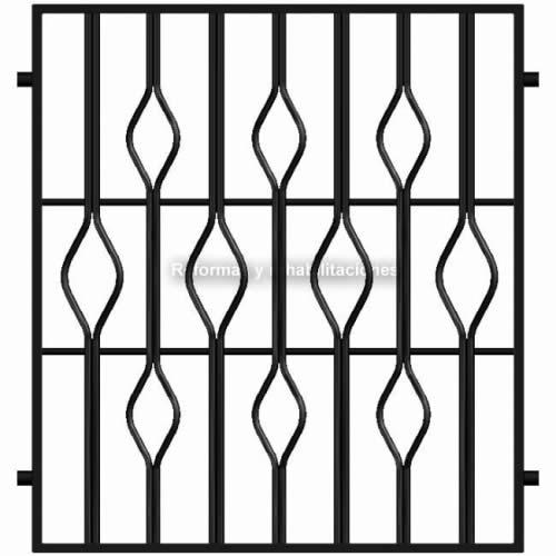 Rejas para ventanas de hierro rejas met licas l pez sl for Rejas de hierro precios