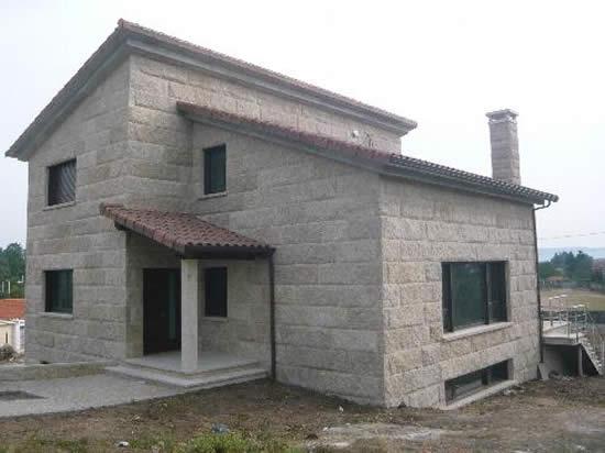 Construcci n chalets piedra construcciones y reformas jofer - Construccion casas de piedra ...