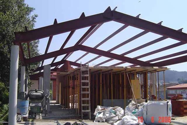 estructuras met licas para techos cerrajer a tob o