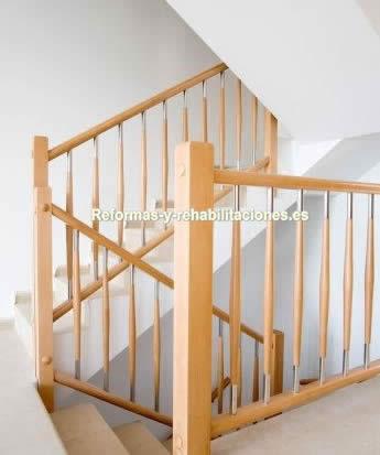Barandillas de madera mobiliario de acero inoxidable jae - Barandillas de forja y madera ...