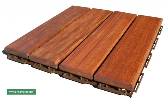 Loseta de madera brico markt maderas for Baldosas exterior precios