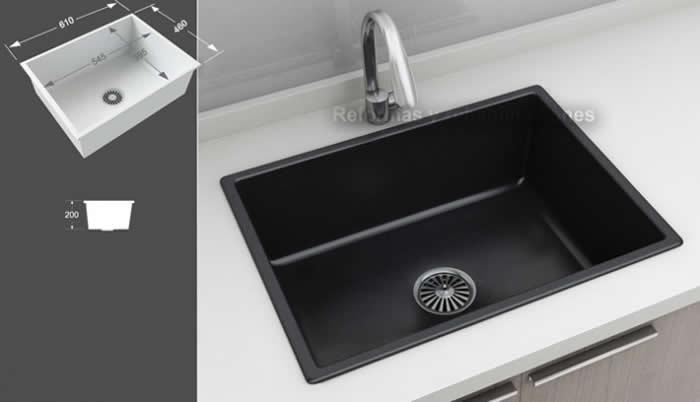 Fregaderos de colores lavabos a medida densificados sl for Fregaderos cocina sinteticos