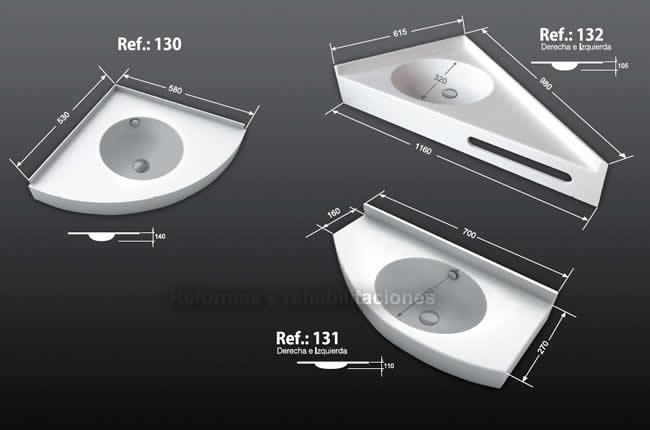 Lavabos de esquina lavabos a medida densificados sl for Lavabos de bano pequenos