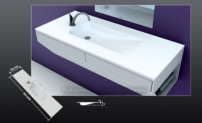 Lavabos Para Baño Medidas:Lavabos a medida Densificados SL – productos_para_el_baño