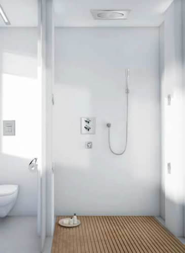 Ducha grohe grifer as para ba os y cocinas grohe for Griferia pared