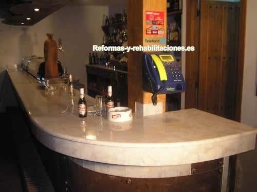 Barras de m rmol trabajo de la piedra granymar sa for Modelos de barras de bar