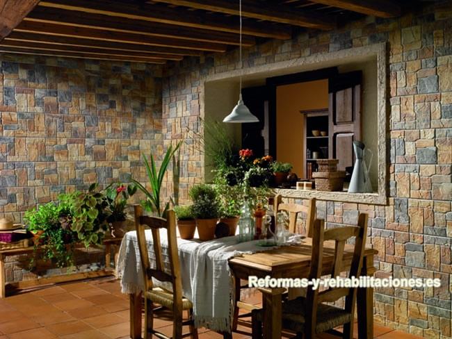 Revestimientos fachadas azulejos mijares - Casas estilo rustico ...