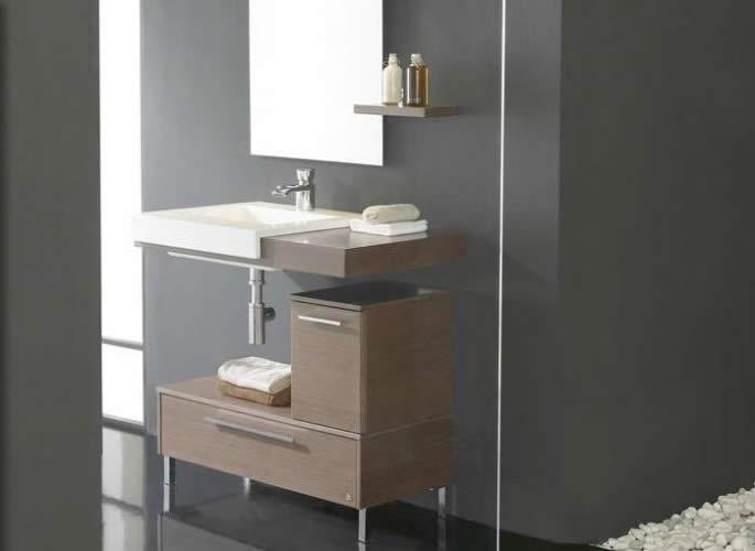 Encimeras para baos encimera de granito lavabo de obra cemento pulido sina para decorar las - Muebles bano castellon ...