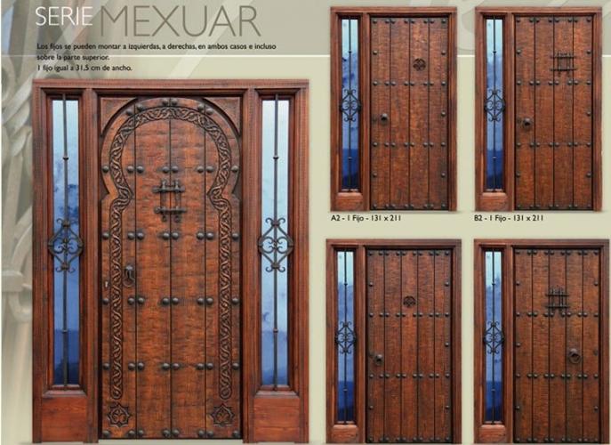 Puertas de madera entamboradas mercadolibre venezuela for Puertas rusticas exterior