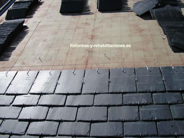 Revestimientos con pizarra tejados de pizarra cubiertas lamas - Cubierta de pizarra ...