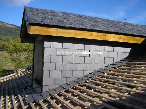 Tejados con pizarra tejados de pizarra cubiertas lamas - Cubiertas de pizarra en madrid ...