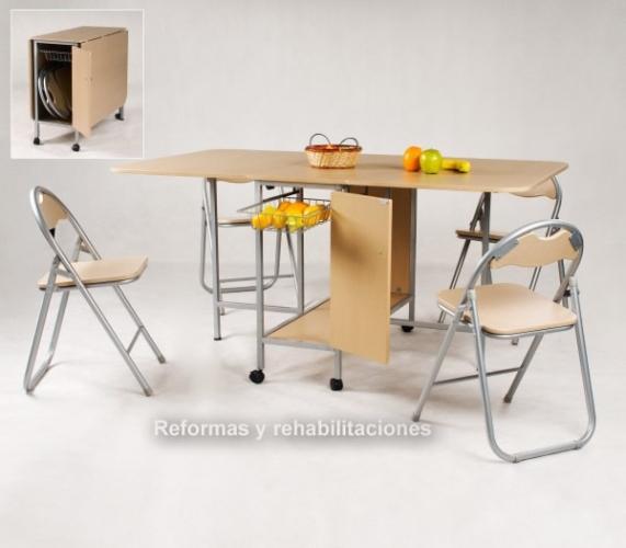 Mesas de cocina pegable sillas y mesas pegables aranaz s l - Muebles en navarra ...