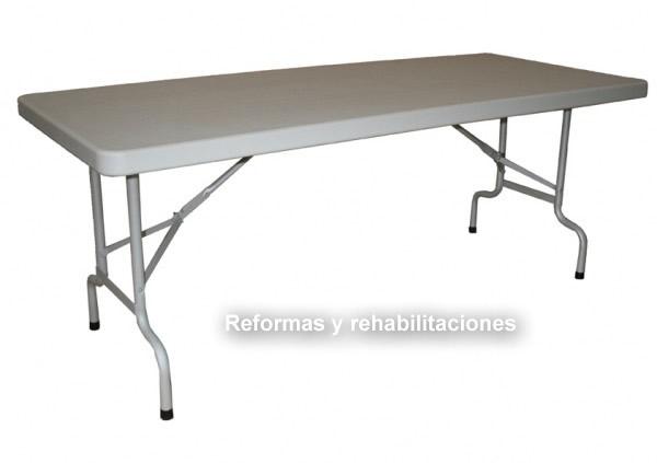 Mesas pegable sillas y mesas pegables aranaz s l for Mesas supletorias plegables
