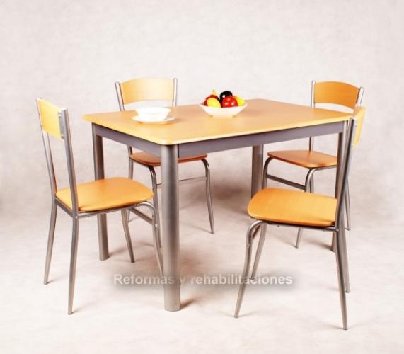 Mesas y sillas de cocina sillas y mesas pegables aranaz s l for Muebles de cocina para exterior
