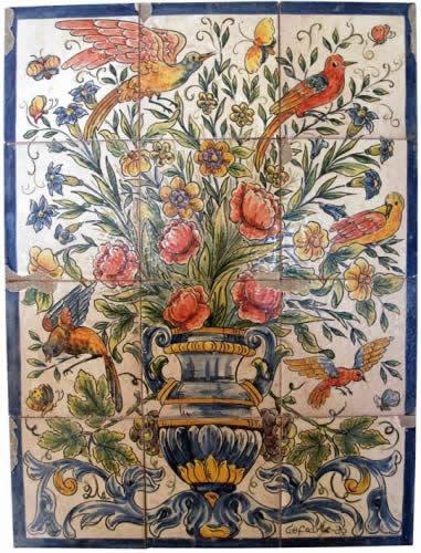 Azulejos r sticos cefoarte cer mica art stica - Murales de ceramica artistica ...