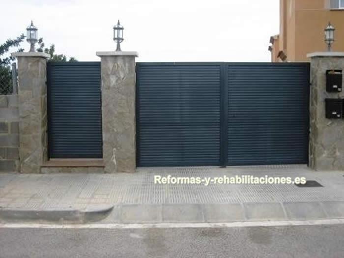 Vallas de aluminio puertas y ventanas aluminio a garcia for Vallas de aluminio para jardin