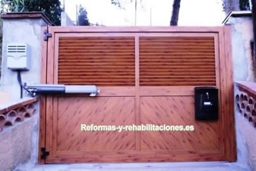 Vallas de jard n puertas y ventanas aluminio a garcia - Puertas de jardin de aluminio ...