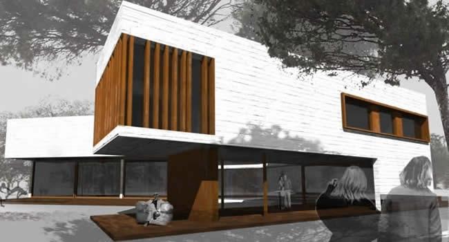 Casas de madera maciza trahus casas de madera modernas - Casas de madera maciza ...
