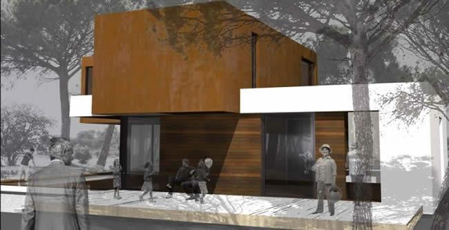 Casas modernas de madera trahus casas de madera modernas for Casas de madera modernas