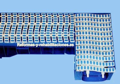 Rejilla y canaleta piscinas grupo aquamar 2000 sl for Rejillas para piscinas