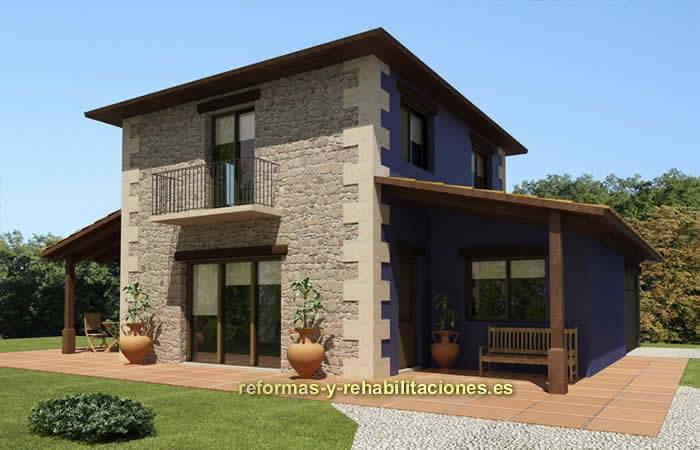 Construciones casas r sticas ekoetxe sl - Modelos casas rusticas ...